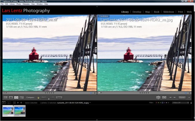 Output Sharpening Low Glossy comparison 1