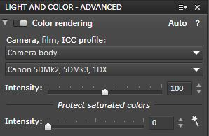DxO Color Rendering Module